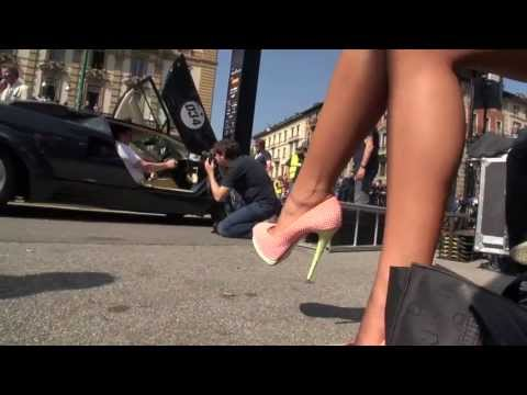 TAMIA IN HIGH HEELS & THE FUNNIEST LAMBORGHINI DRIVER @ GRANDE GIRO