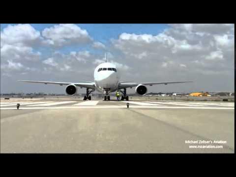 High Power Run Up Engines 4X-EAK El Al Israel Airlines Boeing 767-300