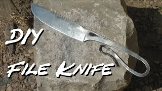 DIY File Knife w Common Tools, No Anvil.