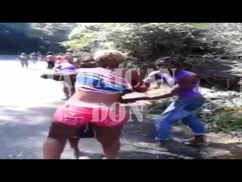 Country Man & Woman Fight In Jamaica