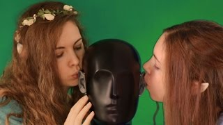 ASMR Elven Twin Girls Ear Eating, Mouth Sounds & Kisses
