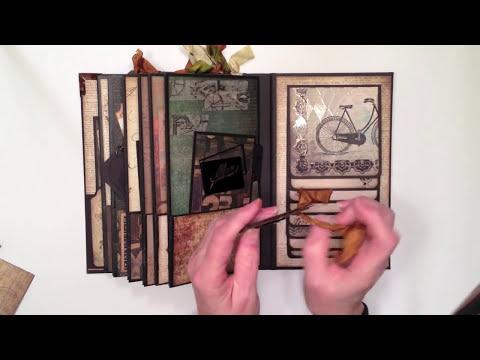 DCWV Timeless Type Vintage Paper Bag Mini Album