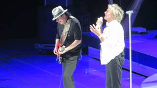 Carlos Santana And Rod Stewart Together Vancouver 2014