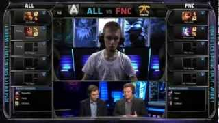 Alliance vs Fnatic | Season 4 EU LCS Spring split 2014 Super week W1D1 | ALL vs FNC