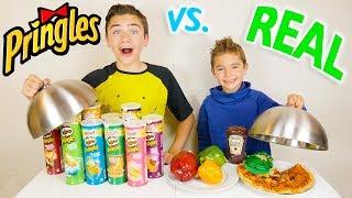 PRINGLES VS REAL FOOD CHALLENGE - Vraie nourriture ou Pringles ?
