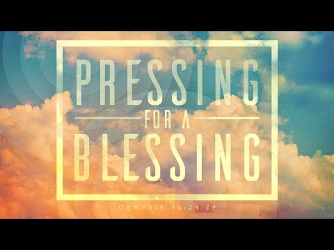 a blessing in the pressing