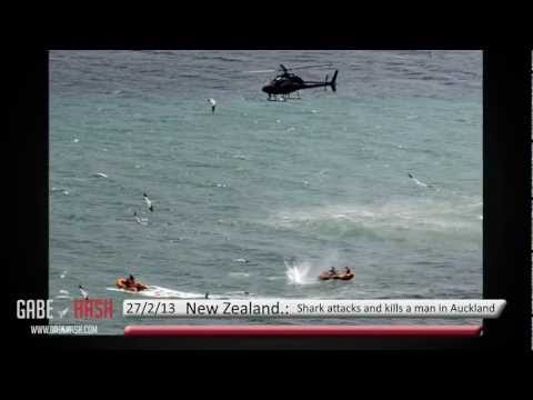 SHARK ATTACKS AND KILL A MAN IN AUCKLAND MURIWAI, NEW ZEALAND, FEBRUARY 27, 2013
