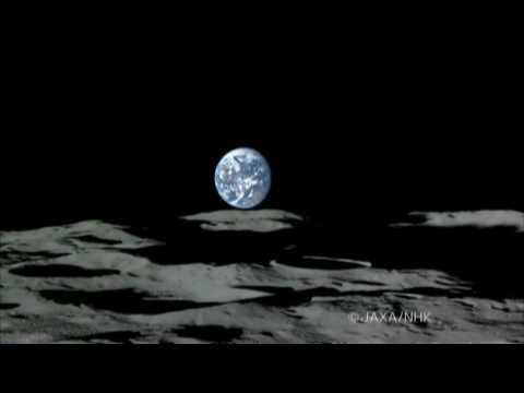 JAXA/KAGUYA Earth-Rise and Earth-Set image over the moon