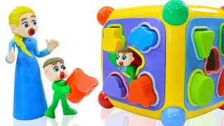 SUPERHERO BABY MOTHER CARE MAGIC BOX 💖 Animation Cartoons Play Doh