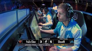 Cloud9 vs FaZe at ELEAGUE Major 2018 Grand Finals Map 3
