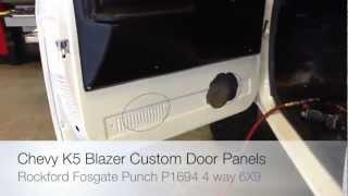 How To Install Rockford Foasgate Punch P1694 6x9 Speakers 1969-1975 Chevrolet K5 Blazer