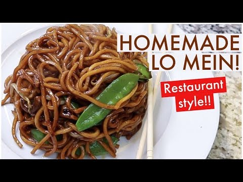 HOW TO MAKE BEST CHINESE LO MEIN!! CHINESE FOOD RECIPE