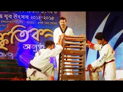 Awesome Breaking Demonstration By Taekwondo 5th Dan Black Belt Mr. Sumit Ghosh