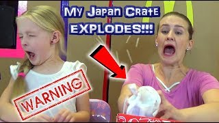 My Japan Crate EXPLODED!!! Trying Treats Outside My Huge Box Fort! November 2017