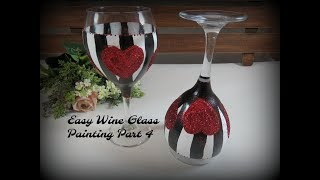 Easy Wine Glass Painting Part 4 | Apply Glitter to Wine Glasses | Tutorial | Aressa | 2019