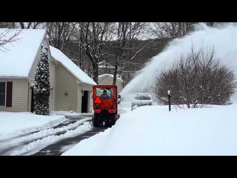 Kubota  BX 25D Heated Cab Front Snow Blower