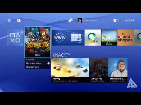 PS4 UI Walkthrough - Menus. Friends. Profile (Playstation 4 User Interface)