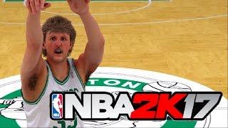 Can Larry Bird Hit 40 Three Point Shots In Three Minutes? NBA 2K17 Challenge