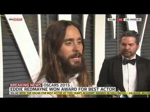 Oscars 2015: Jared Leto Praises Eddie Redmayne