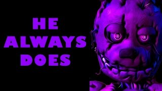 SPRINGTRAP ES EL HOMBRE MORADO│CONFIRMADO│FIVE NIGHTS AT FREDDY