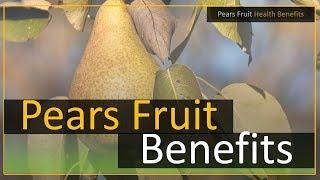 Pears Fruit Health Benefits