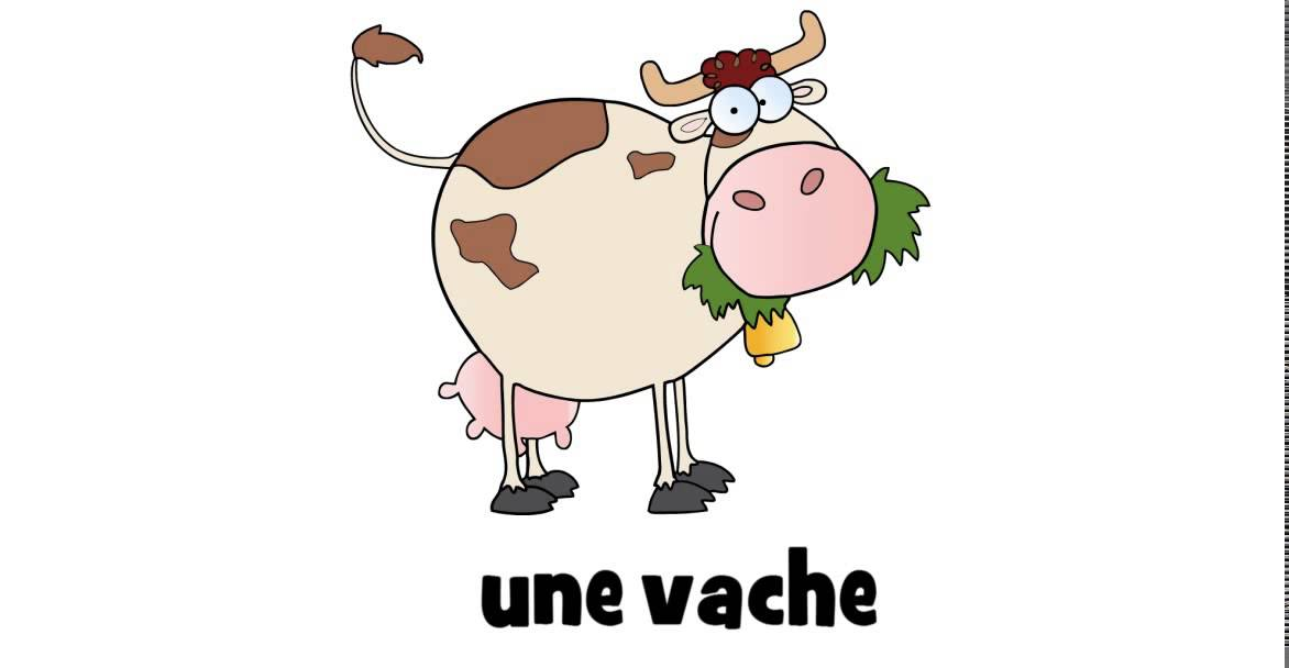 Learn french with a drawing une vache youtube - Dessin d une vache ...