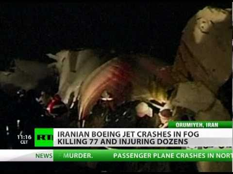 Boeing jet crashes in Iran killing 77, dozens injured