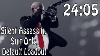 Hitman 2 (2018) Speedrun in 24:05 | Silent Assassin, Suit Only, Default Loadout @Elajjaz