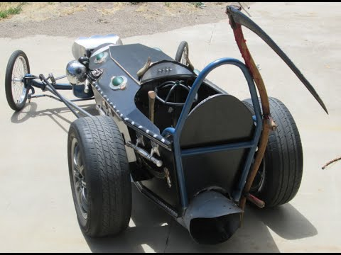 HALLOWEEN  Coffin Dragster, JET POWERED!! 300 pound thrust Pulsjet Engine halloween car