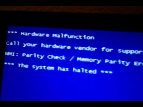 Error Screen Blue Screen Memory Error