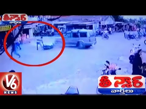 A Car Driver Attempted to Kill a Police Constable in Gujarat's Gir Somnath | Teenmaar News