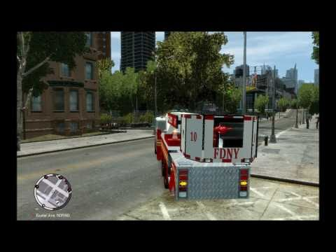 GTA4:EFLC - FDNY movable ladder truck