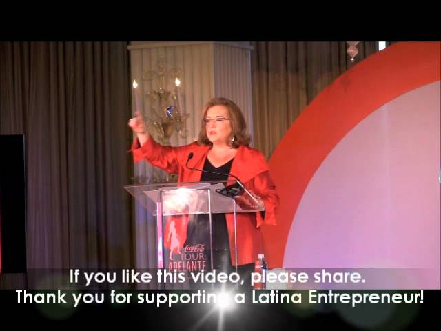 Nell Merlino Presentation at Coca Cola Adelante Tour Event