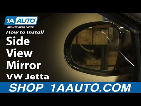 How To install Replace Side rear View Mirror 2005-10 Volkswagen VW Jetta