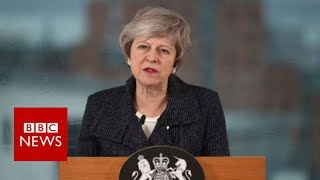 PM defends Brexit strategy on Northern Ireland visit - BBC News