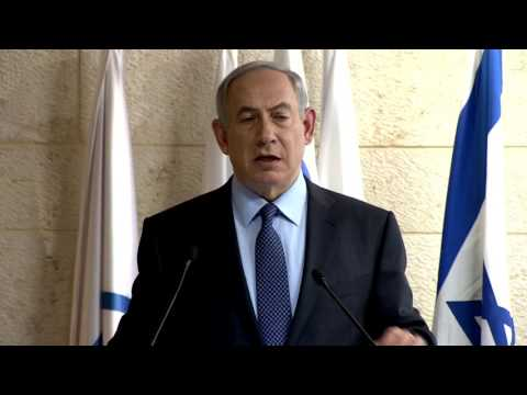 PM Netanyahu Holds Press Conference for the International Media