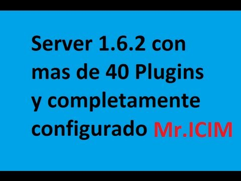 Descargar server de Minecraft configurado 1.6.2 - 41 Plugins
