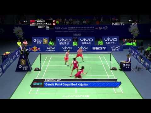 NET Sport - Kandas dari China, Indonesia Gagal Melaju ke Final Sudirman Cup 2015