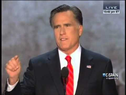Mitt Romney s RNC Speech 8/30/12 Part 1