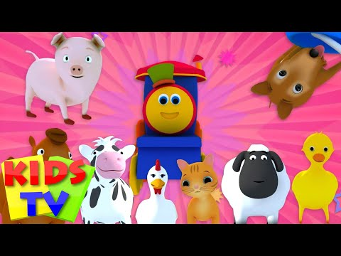 Bob The Train   Went To The Farm   kids tv shows   Old MacDonald   Animal Sounds Song