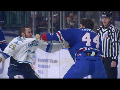 Бои КХЛ: Артюхин против Рыспаева / KHL Fights: Artyukhin VS Ryspayev