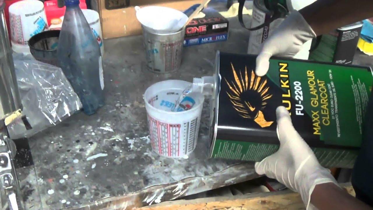 Как разводить краску для покраски авто своими руками