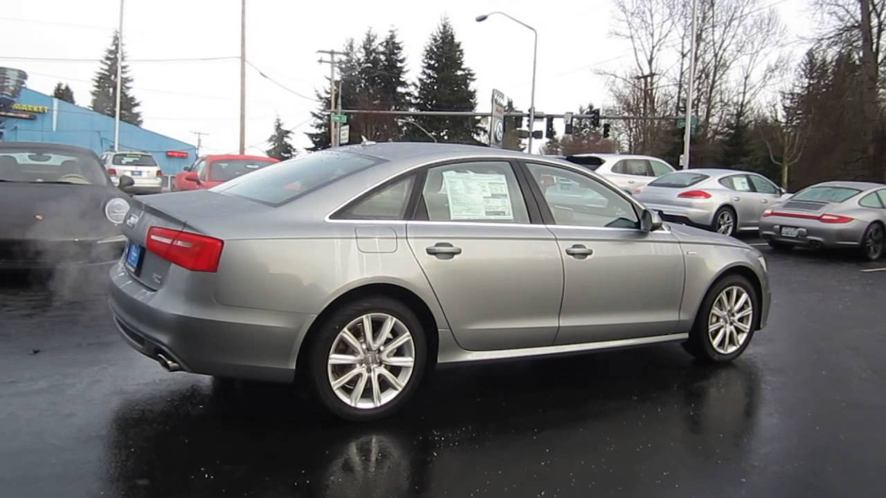 2014 Audi A6 Quartz Gray Metallic Stock 109685 Walk