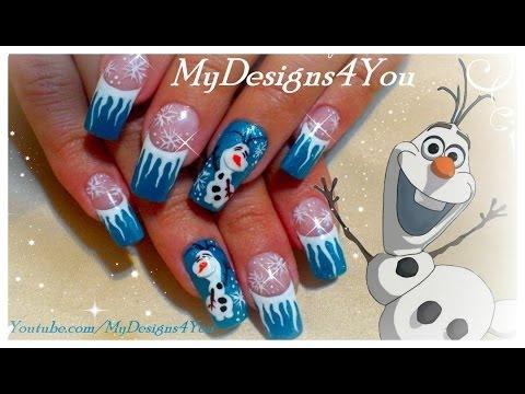 ▶ Disney Olaf Frozen Nail