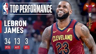 LeBron James Starts at Point Guard and Leads Cavs to Win Over Bulls | 34 Points, 13 Assists