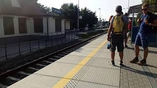 Wjazd pociągu na stacje Jastarnia