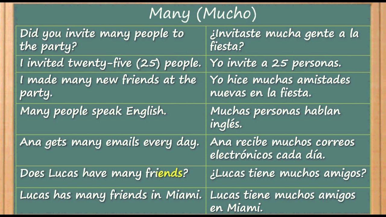 Como aprender ingles rapido y facil la palabra many - Como estudiar ingles en casa ...