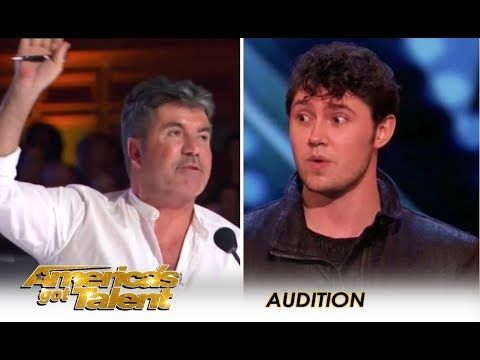 Daniel Emmet: Simon Cowell STOPS Him Mid Act Then Gives Him 2nd Chance | America's Got Talent 2018