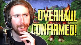 Asmongold Reacts to WOW OVERHAUL?! Blizz CONFIRM Level Squish | Dates of Patch 8.2