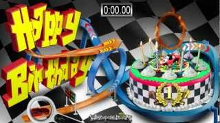 Racing Track Cake - HAPPY BIRTHDAY